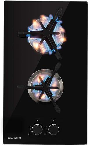 Klarstein Trifecta - table de cuisson à gaz, encastrable, brûleur triangle, gaz naturel/propane, soupapes de sécurité...