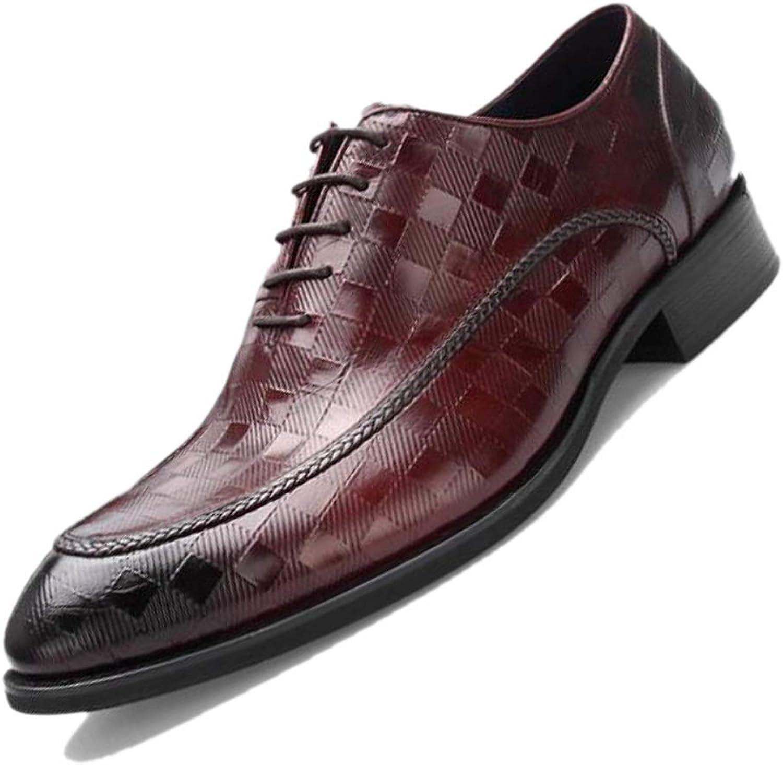 Derby Pointed Embossed British Herren Pointed Business Schuhe Breathable Burgund schwarz Dress schuhe Party