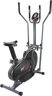 FITFIU Fitness BELI-120 Bicicletta Ellittica Magnetica con Sella Regolabile, Cardiofrequenzimetro e Disco da 5 Kg di Inerz...