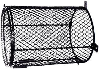 Baosity Pet Reptile Heat Lamp Light Bulb Mesh Cage Protector Guard Enclosure- 2 Style - Black, 15x16.5cm