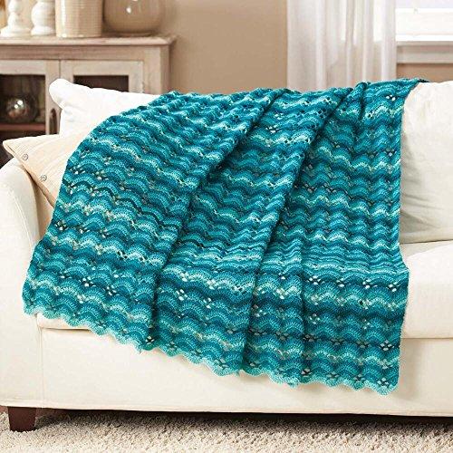 Herrschners Island Teal Crochet Afghan Kit