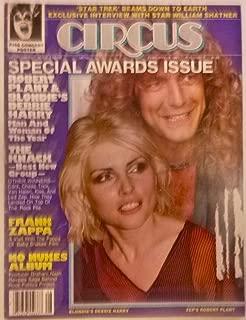 Circus Magazine February 19, 1980 Blondie Debbie & Harry Robert Plant Led Zeppelin Robert Plant Cover, + The Knack, Frank Zappa, No Nukes album, Kiss, Joe Jackson, Rick Derringer, Star Trek