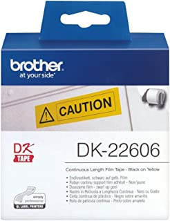 Brother DK22606 Continuous Length Film Tape Yellow (Genuine)