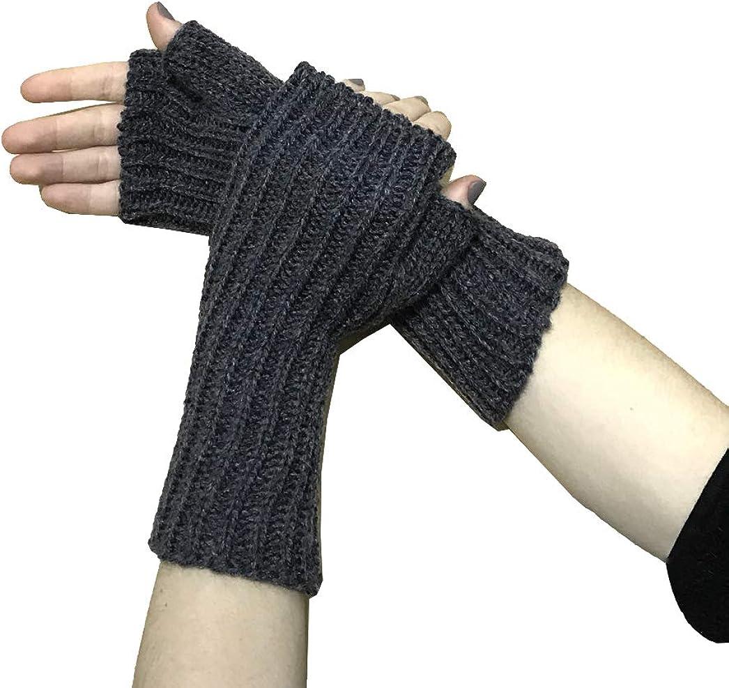 TINKUY PERU - Alpaca Wool Knit - Beanie Hat Skull Cap + Mittens Gloves Women's and Men's - Dark Grey