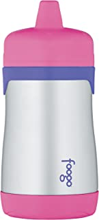 Thermos Foogo Vacuum Insulated Stainless Steel 10-Ounce Hard Spout Sippy Cup, Pink/Purple
