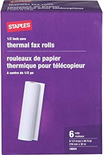 Staples 269571 Thermal Fax Paper White 98-Ft L x 8 1/2-Inch W 6 Rolls/Ct