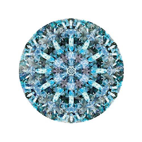 Moooi Carpets Crystal Ice Teppich rund Ø250cm, blau schwarz