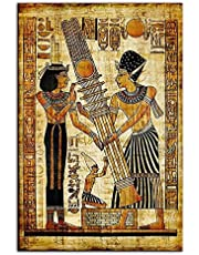 Ancient Egyptian Papyrus Hieroglyphics Illustration Cool Wall Decor Konsttryck Poster Canvastavla Heminredning Landskap Poster 60x80cm Ingen Ram