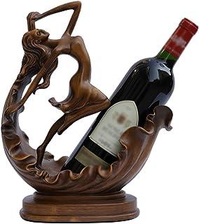 JLDN Hembra Vino Titular Esculturas, decoración del hogar o configuración del Restaurante Estatuas, Soporte de Escritorio para Uso General,B