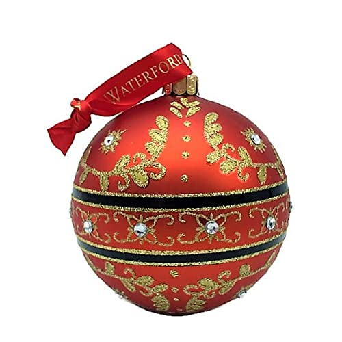 Waterford Holiday Heirlooms Christmas Majestic Scroll Ball #155136 Ornament,  Red with Gold Scroll & - Waterford Holiday Heirlooms: Amazon.com