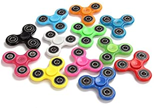 Fidget Hand Spinners 25 PC Color Bundle Bulk EDC Tri-Spinner Desk School Toy Anxiety Relief ADHD Student Relax Therapy Pac...