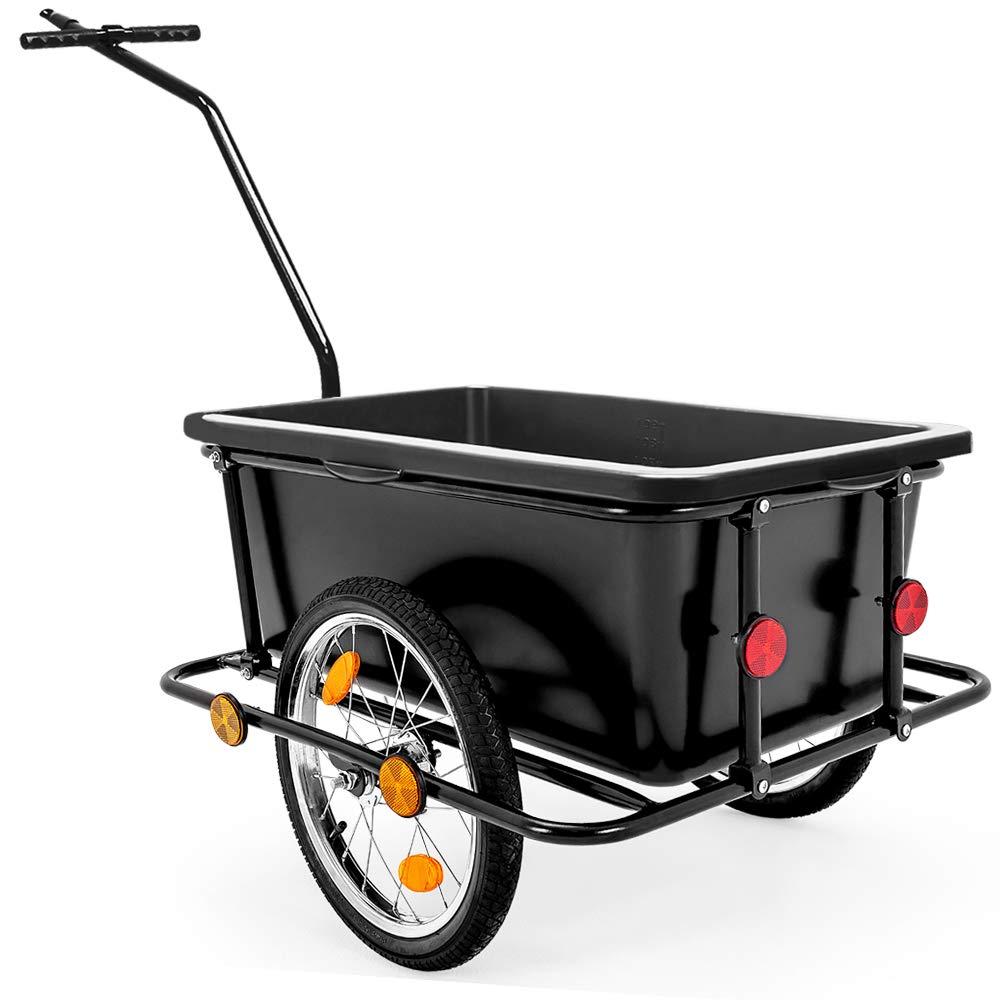 Deuba Remolque para bicicletas para carga de equipaje máx.80Kg 90L ...