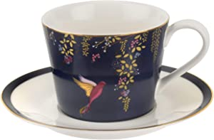 Portmeirion Home & Gifts Chelsea Cup and Saucer, 230 x 185 x 95 cm, Navy