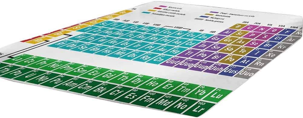 LCGGDB Regular store Periodic Table Fitted Sheet Twin Excellent Artwork Educational Size