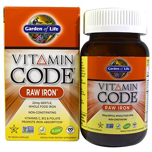 Garden of Life, Vitamin Code, RAW Iron, 30 Vegan...
