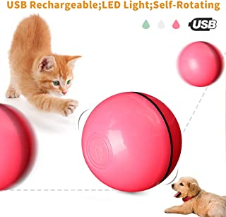 BMAG Interactive Cat Toys Ball,  Funny Self-Rotating Ball,  USB Rechargeable Ball with Build-in LED Spinning Light,  Cat Dog Exercise Chaser Toy