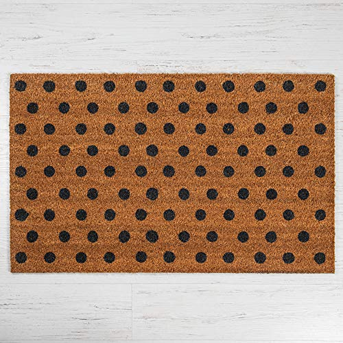 Maine Furniture Co. Fußmatte aus Kokosfaser, gepunktet, groß