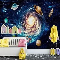 カスタム任意のサイズの壁画壁紙3D漫画宇宙宇宙写真壁画子供子供の寝室の背景の装飾-250x175cm