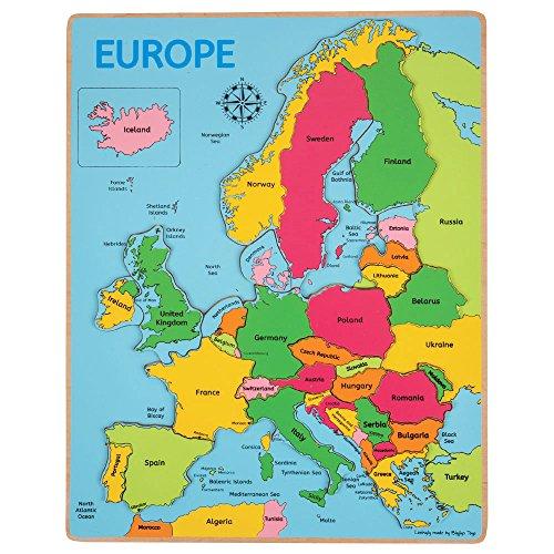 Bigjigs Toys Europakarte Steckpuzzle