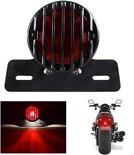 yifengshun Fanale posteriore per moto Harley Prince Fence Fanale posteriore 12V Luci di marcia in esecuzione Luce targa Staffa rotonda in metallo nero