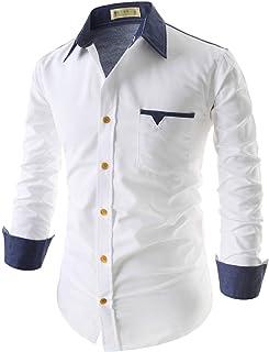 Afflatus Men's Slim Fit Cotton Casual Full Sleeve Shirt