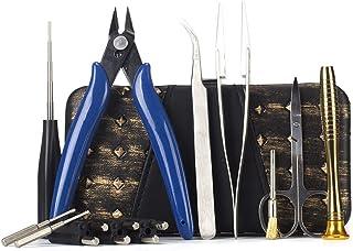 DIY Tool Kit for Jig Allen Screwdriver Scissors Pliers Ceramic Tweezer Brush 9 in 1..