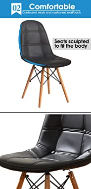Levede 4X Retro PU Leather Dining Chair Office Cafe Lounge Chairs Cream