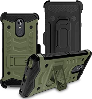 LG Stylo 4 Phone Case, LG Stylo 4 Case, Venoro Heavy Duty Shockproof Full Body Protection Case Cover with Swivel Belt Clip and Kickstand for LG Q Stylo/LG Stylo 4+ / LG Stylo 4 Plus (ArmyGreen)