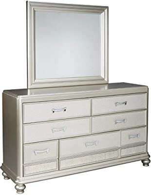 Ashley Furniture Signature Design - Coralayne Bedroom Mirror - Mirror Only - Vibrant Silver Finish