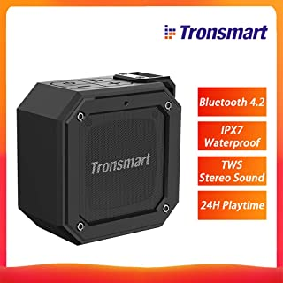 Tronsmart Element Groove (Force Mini) Bluetooth 4.2 Portable Speaker IPX7 Waterproof TWS Stereo Sound Wireless Speaker 24H Playtime for Outdoor/Indoor Use