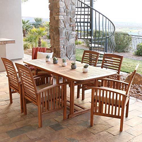 Kücheks - Mesa baja de patio de madera de acacia maciza