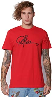 Signature Tee - Red - L - Mens - Tops - Graphic Tee - RED
