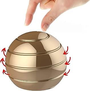 Manzelun Kinetic Desk Toys,Full Body Optical Illusion Fidget Spinner Ball,Gifts for Men,Women,Kids (Gold)