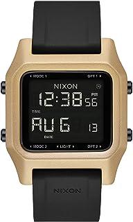 ساعة نيكسون A1282-010 ستيل سوداء من ألياف البولي كربونات المقوى