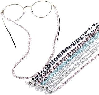 5pcs occhiali con perline catena occhiali da vista tracolla porta cordino antiscivolo occhiali da sole collana occhiali st...