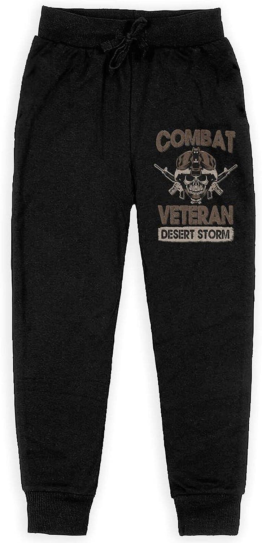 Meimeicaiopa Iraq War Veteran Boys' Training Flannel Sweatpants Girl Jogger Cotton Sweats Pants with Pockets
