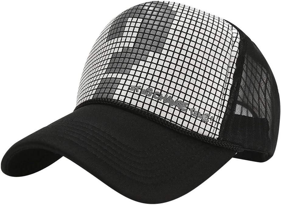 Ellymi Unisex Men Women Sequin Sun Hat Adjustable Baseball Cap Hip Hop Gauze Splice Hat Sun Hat Outdoor