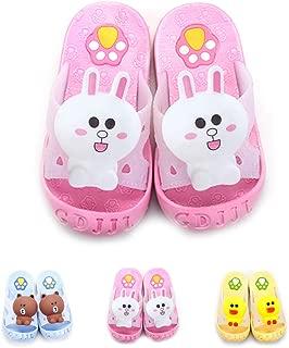 Yanlinmingjing Little Kids Summer Sandals Slide Slippers Anti- Slip Bathroom Slippers for Toddler Girls Boys Beach Sandals Shoes Shower Pool Slippers