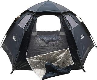 ワンタッチテント ドーム型 全3色 5人用 約3.9kg UVカット 通気性抜群 蚊帳付き 収納袋付き 避難所 [並行輸入品]