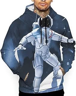 Unisex Space Astronaut Surfing Hoodies Funny Pullover Hood Jackets Sweatshirt