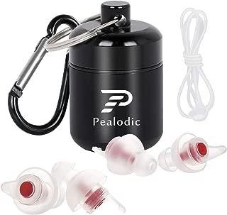 耳栓 安眠 睡眠用 フィルター付き 遮音値31dB 防音 聴覚保護 旅行・飛行機・キャンプ・睡眠・勉強に対応 横向きに寝ても大丈夫 繰り返し使用可能 携帯ケース付き Pealodic
