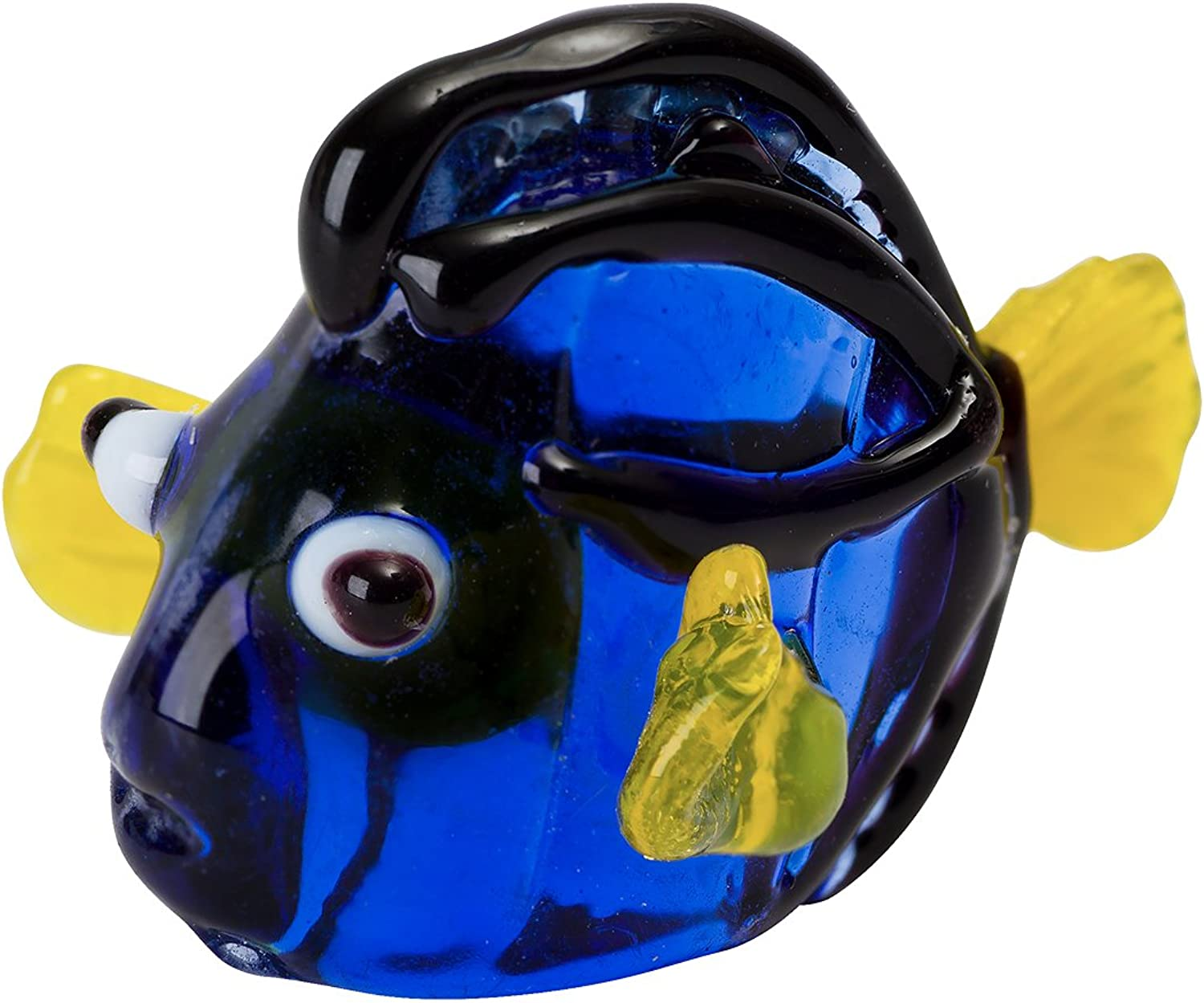 Tynies bluee Hippo Tang Fish Glass Figurine, Dark bluee, 1.9  x 1.6  x 1.2