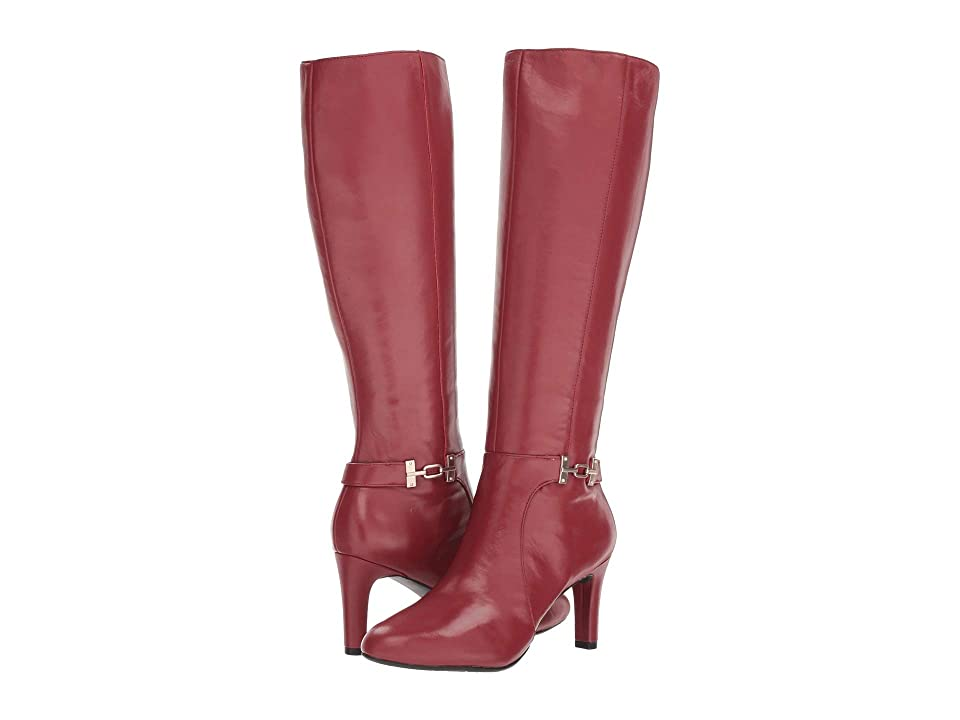 Bandolino Lamari Boot (Red Leather) High Heels