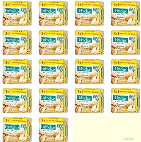 Palmolive Lot de 18 paquets de savon solide en poudre de lait et d'amande, délicat.