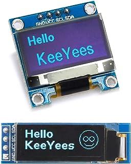 KeeYees OLEDディスプレイ OLEDモジュール 0.96インチ 0.91インチ I2C IIC SSD1306 4ピン (ブルー)