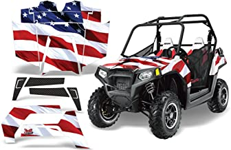 2011-2013 Polaris RZR 800 AMRRACING ATV Graphics Decal Kit-Stars and Stripes