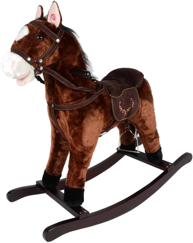 ventas en linea Jolly Jolly Jolly Ride Marrón Caballito Pony con sonido Nuevo  Envío 100% gratuito
