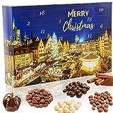 C&T Snack Adventskalender 2020 'Weihnachtsmarkt'   24 Süßigkeiten wie man sie vom Weihnachtsmarkt kennt   Knusper Weihnachtskalender mit vielen Knabbereien