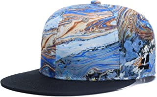 Quanhaigou Adjustable Snapback Hat for Men Women,Unisex Hip Hop Baseball Cap Flat Bill Brim Dad Hats