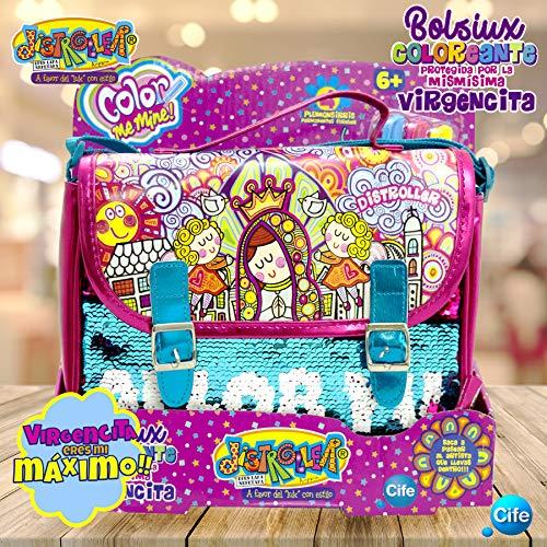 Virgencita - Distroller BOLSIUX kleuren super briljant brievenbus CMM MEDIUM tas MALETIEK VIRGEN meerkleurig (Cife 5)